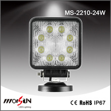 Hot sell 24W Square Hot sell High quality led 4x4 driving ligt for For SUV, ATV, truck, Ford lift, train, boat, bus, tanks