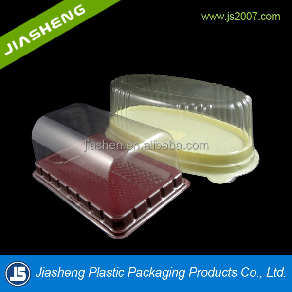 Disposable plastic trays and lids for cakes and plastic cake box with clear lid