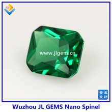Wholesale Spinel Price Emerald Green Nano Spinel Faceting Cutting Loose Gemstone