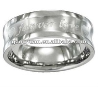Forever love engagement stainless steel ring/New arrival stainless ring