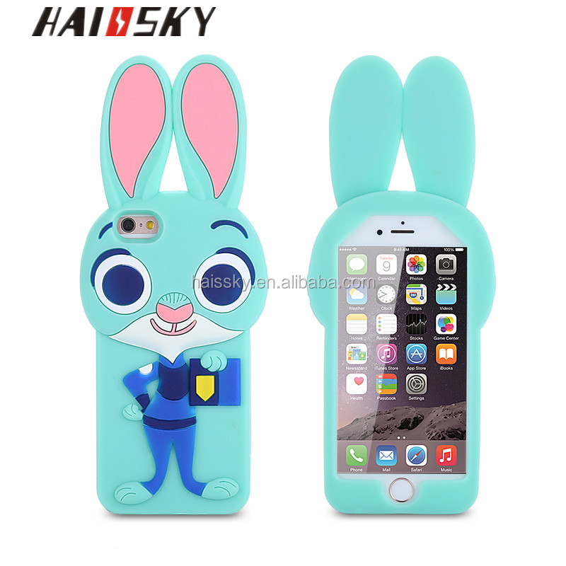 New products 2016 mobile phone accessory rabit phone case for iphone 6/6 plus