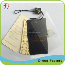 Hottest recycled,eco-friendly With Nylon Cord String clothing custom plastic pvc hang tag for jewelry