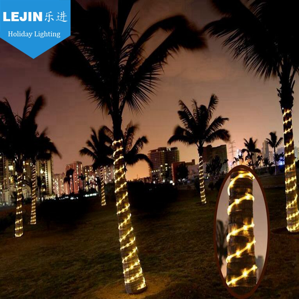 outdoor led rope light palm tree decoration
