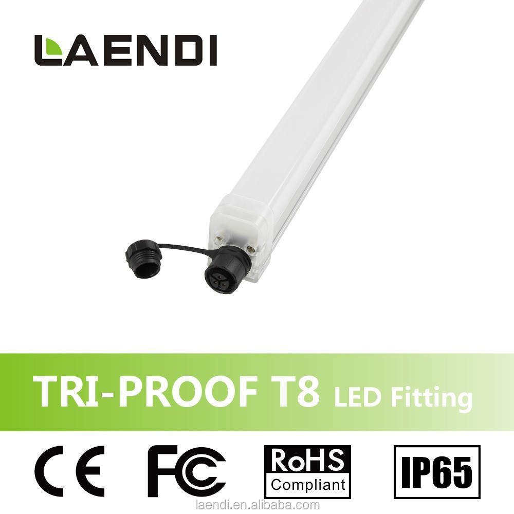 factory supply 40W 1500mm T8 waterproof led tube light fitting