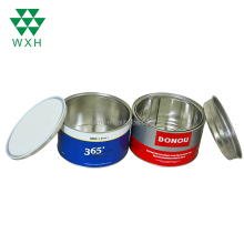 Manufacturer Wholesale 2L Color Round Metal Tin Candy Ink Cans