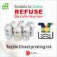 cotton textile printing ink direct to garment ink for ricoh CMYK printer water based high quality ricoh print ink dealers