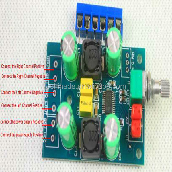 TPA3123 D class single power digital amplifier board (mini computer 25Wx2)