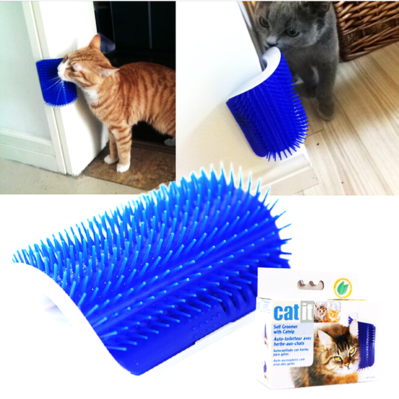 Pet Massage Needle Comb Plastic Corner Cat Brush With Cat Mint