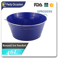colorful big party tub with Stainless steel handle and rim