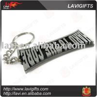 3D Zinc alloy die casting metal key chain