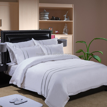 Wholesale Luxury Comforter Bedding Sets Hotel Bedding Collection 300TC 400TC Bed Linen Embroidery White Satin Duvet Set