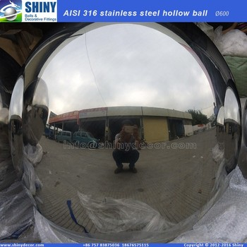 AISI316 stainless steel hollow globe with mirror polished