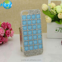 New Trendy Fashion Lady Sky Blue Crystal Shinning Phone Case for Brand Cell Phone