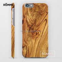 Unique Design wooden pattern mobile phone case hard mobile phone accessory cell phone case For iphone 6 6s