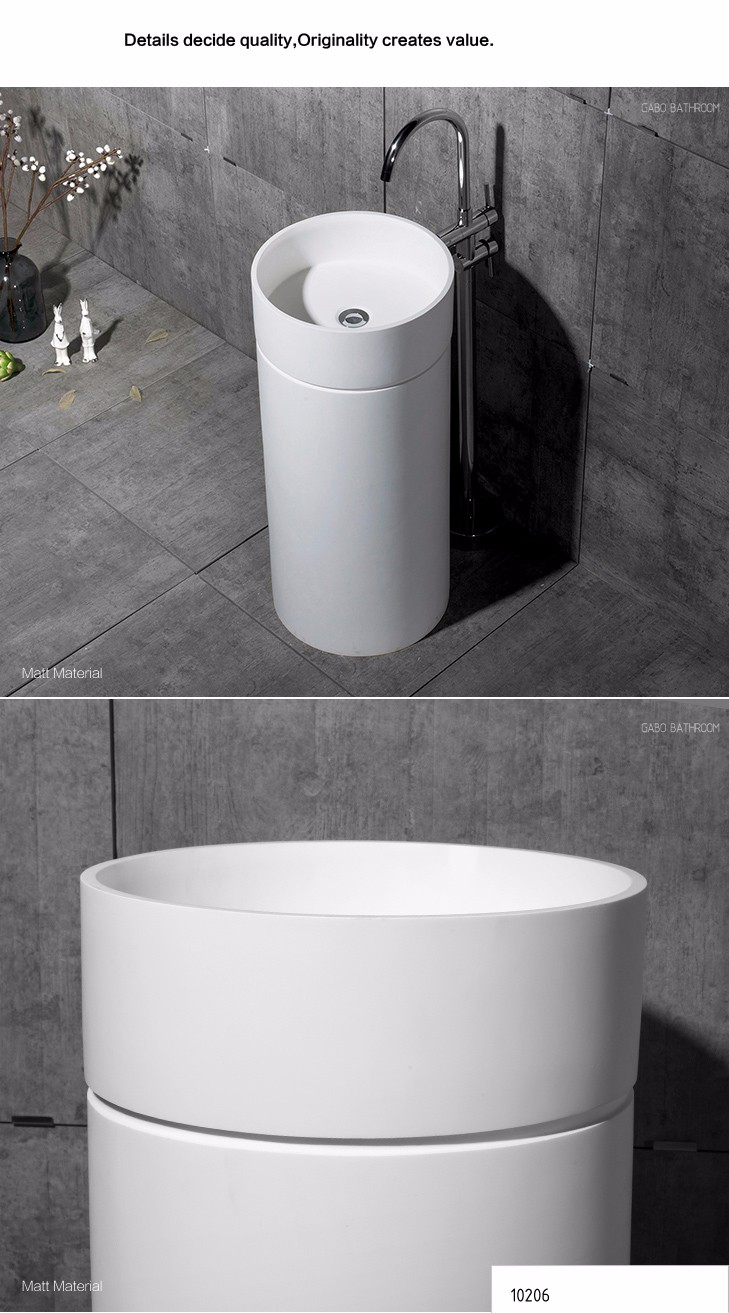 High Quality Cupboard Bathroom Pedestal Wash Basin Cabinets