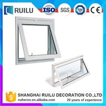 Aluminum white timber reveal chain winder awning window