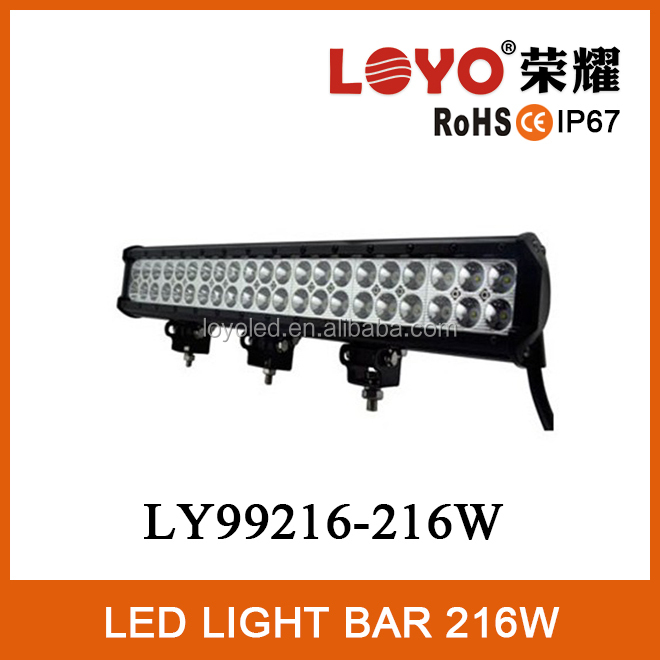 IP67 34'' spot/flood beam offroad 216w led light bar /working light 12V/24V for trucks 216 watt 34 inch dynamic led light bar