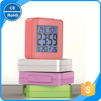 KH-0172 Atomic Bedside Desk Travel Alarm Clock Date Temp Week Auto Night Light Battery Radio Controlled Operated
