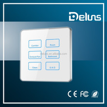 Luxury Hotel Electronic Doorplate ,Touch Switch with LED Room Number Display