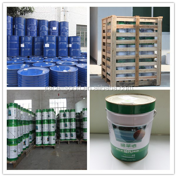 Spray coating athletic track running track surface material supplier for track and field