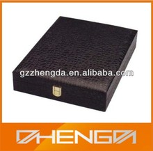 Custom Leather CD DVD Storage Box with Good Quality