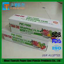Food grade moistureproof pvc wrap film for food packaging