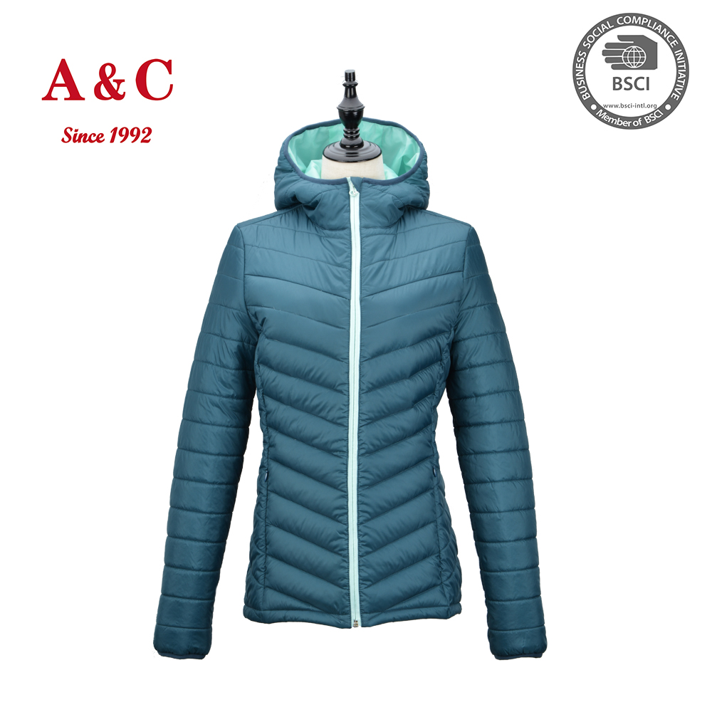 2016 Hight Quality Heated Down Jacket With Hood For Winter Women
