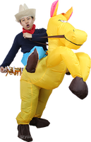 Germany standard inflatable riding gold horse costume -34533