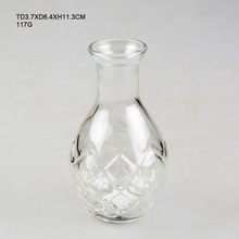 11.3cm Height high quality beautiful clear glass vase