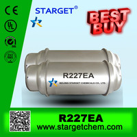 high level refrigerant gas r227ea/HFC-227EA in 926L refillable cylinder /ton tank