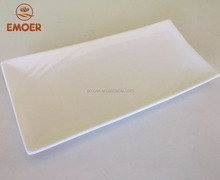 EMOER Safe White Square Ceramic Dinner Plates For Restaurant