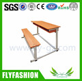 SF-34D Simple Wooden Detachable Combine Double Desk and Chair School Furniture Student Tables With Bench