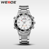 WEIDE WH843 Wholesale Japan Movt Quartz Watch Stainless Steel Back Brand Promotion Stainless Steel Fashion Sport Watch