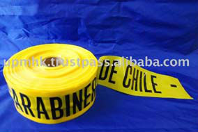 Yellow Color PE Plastic Warning Tape in Roll
