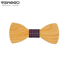 Rewood New Style Male Flashing Wooden Bow Tie