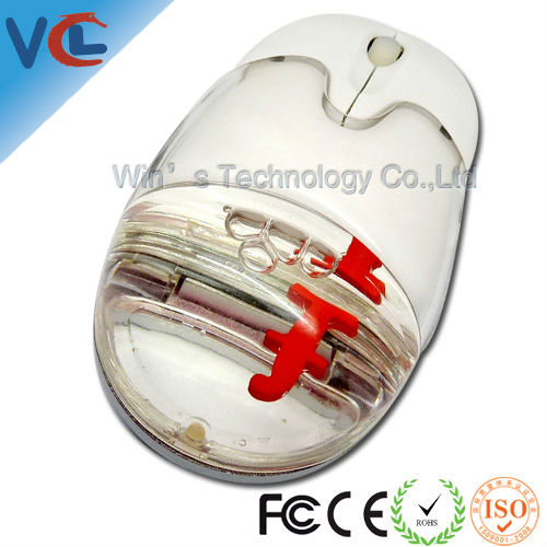 Floater mouse customized logo,OEM/computer wireless liquid mouse