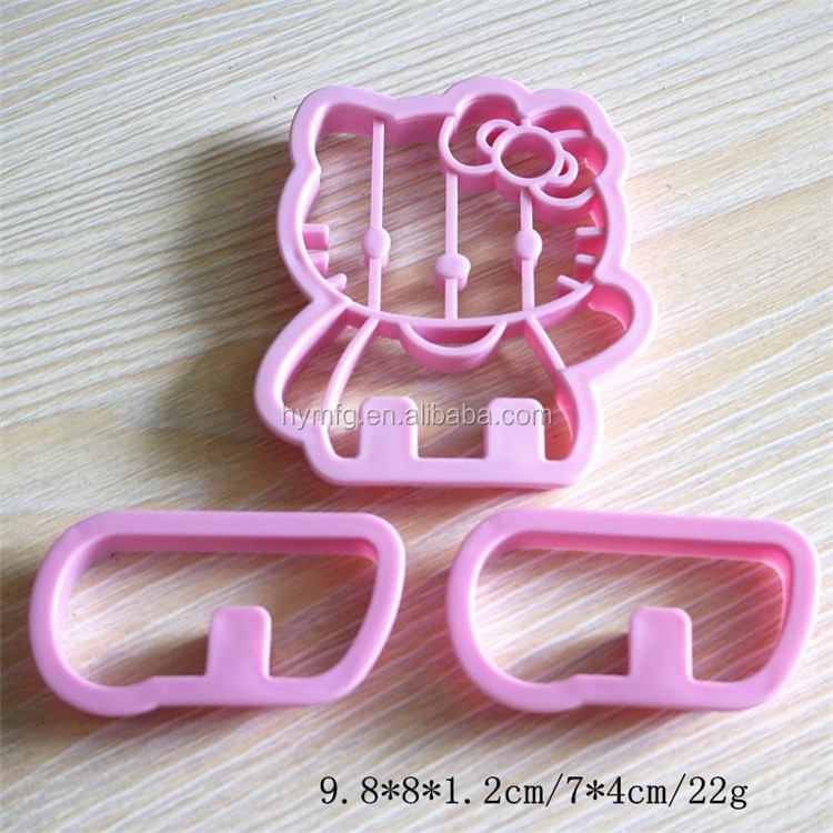Plastic HELLO KITTY shaped cookie cutters and 3D cookie cutter