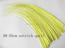Yellow ostrich feather in size 50-55cm ,ostrich quill feather available in any colors