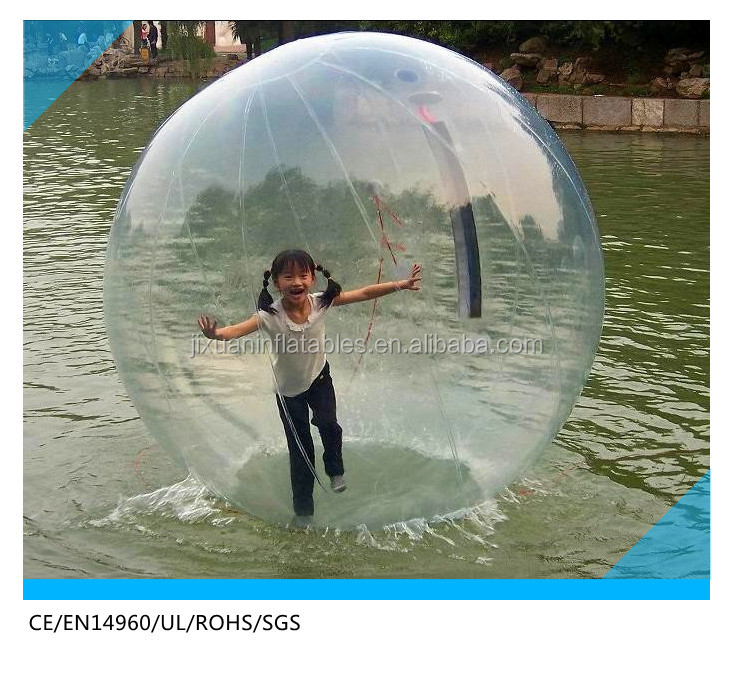 Clear TPU water bouncing ball, cheap price inflatable ball water