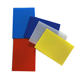 Plastic PP Twin Wall Fluted Corrugated Sheet / BoardEco-friendly Polypropylene Corrugated Plastic Protective Board