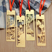 etch brass gold plated personalized metal bookmarks