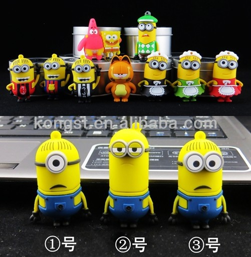 PVC Cartoon USB flash drive, cartoon pendrive oem customized