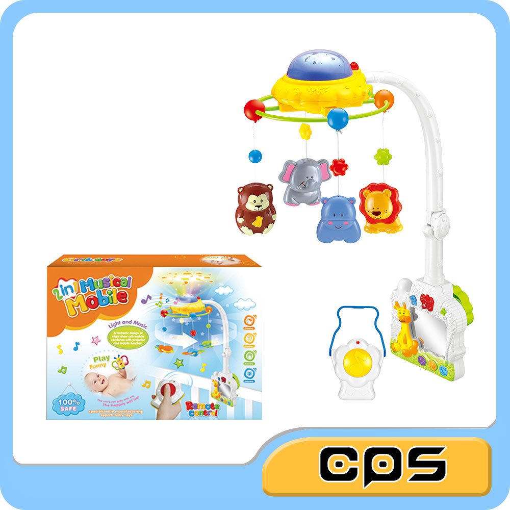 Remote control 2 in 1 baby musical mobile with projector