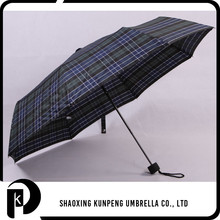 High Quality Grid Cover chinese umbrella lattice edge 3 folding umbrella
