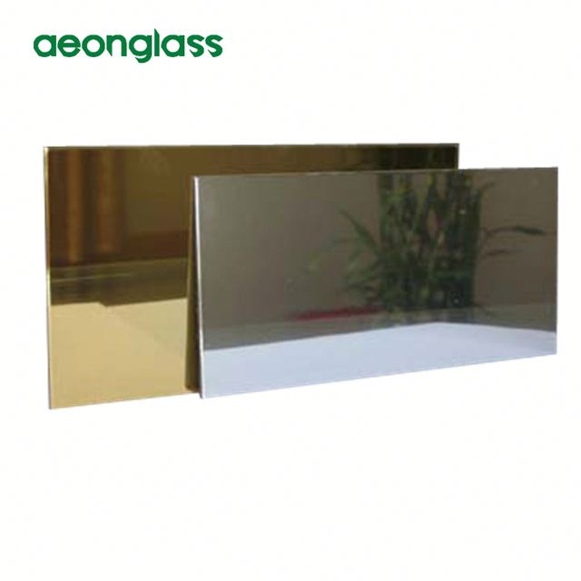aluminum mirror clear sheets glass with back paint