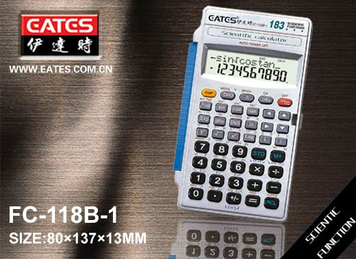 183 functions scientific calculator with plastic cover