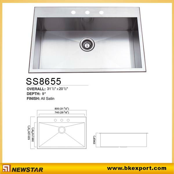 handcraft stainless steel water sink
