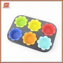 High Quality Safety Silicon 6 cups mini muffin pan LFGB Standard Hot Price