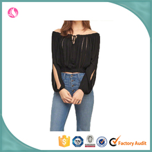 girls latest design sexy chiffon formal top blouse in fashion