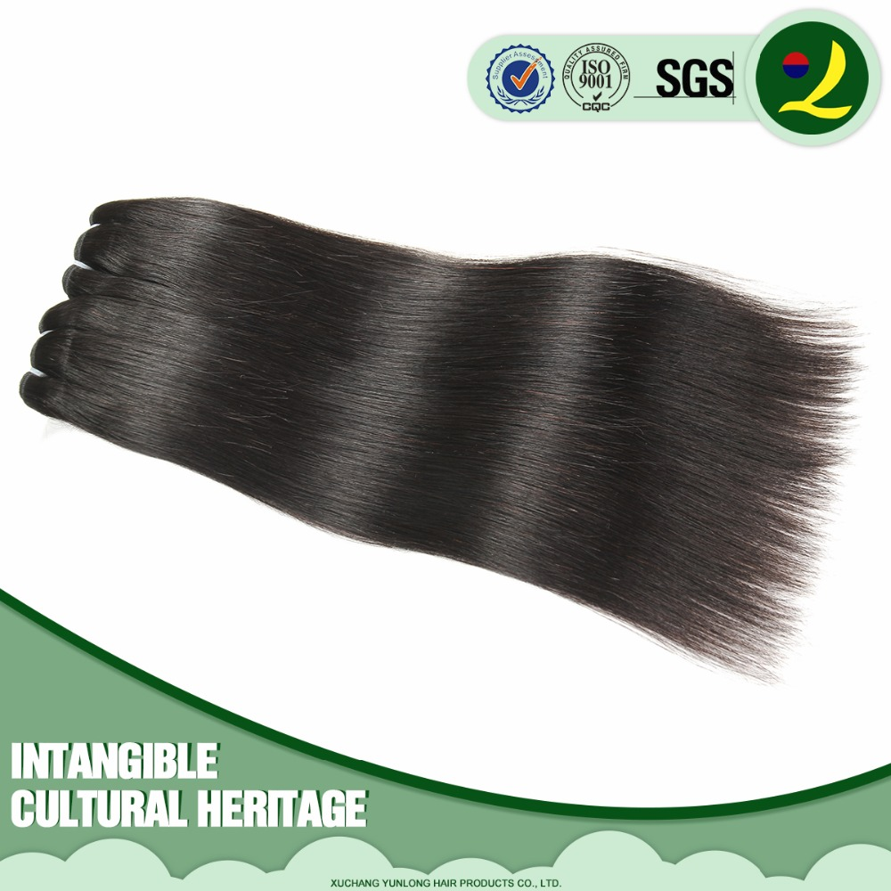 Factory wholesale Price Super Quality Grade 7A Virgin Bundle Hair Extension Peruvian Weft Hair 16inch Natural Black Straight
